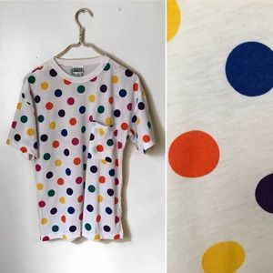 Trend Basics Vintage Multicolored Dot T-shirt.